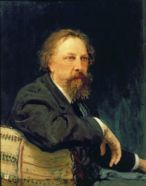 Portrait of the Author Count Alexey K. Tolstoy by Ilya Efimovich Repin