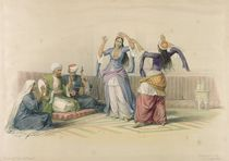 Dancing Girls at Cairo, from 'Egypt and Nubia' by David Roberts
