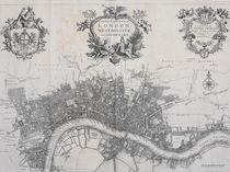 A New Plan of the City of London by John Stow