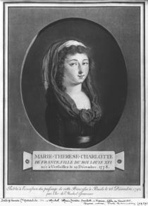 Marie-Therese-Charlotte de France aged seventeen by Christian von Mechel