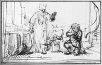 Parable of the ruthless creditor von Rembrandt Harmenszoon van Rijn