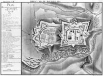Plan and map of the town and citadel of Mont-Louis von French School