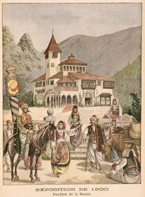 The Bosnian Pavilion at the Universal Exhibition of 1900 by French School