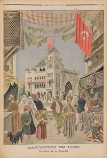 The Turkish Pavilion at the Universal Exhibition of 1900 by French School