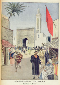 The Moroccan Pavilion at the Universal Exhibition of 1900 von French School