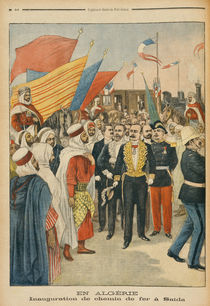 Opening of the Saida railway in Algeria by Jose Belon