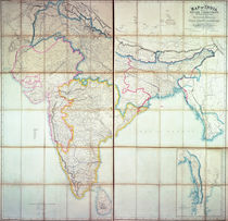 Map of India, 1857 by English School