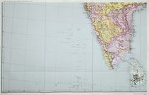 Map of Southern India, 1898 von English School