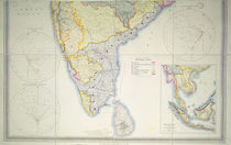 Map of British Southern India by English School