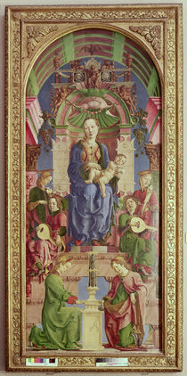 The Virgin and Child Enthroned von Cosimo Tura