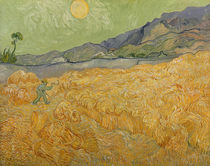 Wheatfield with Reaper, 1889 von Vincent Van Gogh