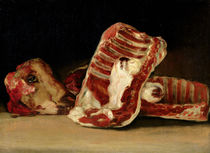 Still life of Sheep's Ribs and Head - The Butcher's counter von Francisco Jose de Goya y Lucientes