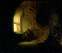 Philosopher in Meditation, 1632 by Rembrandt Harmenszoon van Rijn