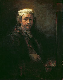 Portrait of the Artist at his Easel von Rembrandt Harmenszoon van Rijn