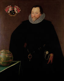 Portrait of Sir Francis Drake 1591 von Marcus, the Younger Gheeraerts