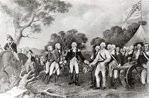 The Surrender of General Burgoyne Saratoga by American School