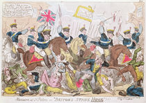 Massacre at St. Peter's, or 'Britons Strike Home'!!! by George Cruikshank