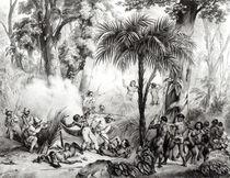 Guerillas, engraved by Victor Adam von Johann Moritz Rugendas