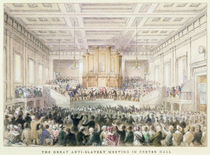 The Great Anti-Slavery Meeting of at Exeter Hall by Thomas Hosmer Shepherd