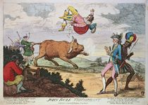 John Bull Triumphant, published by William Humphrey by James Gillray