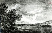 View of Hudson's River of Pakepsey von Paul Sandby