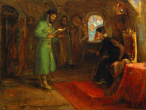 Boris Godunov with Ivan the Terrible by Ilya Efimovich Repin