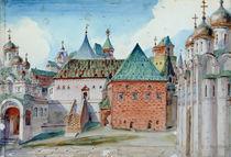 Stage design for Modest Mussorgsky's opera 'Boris Godunov' von Vasilij Dmitrievich Polenov
