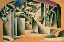 Stage design for William Shakespeare's play 'Romeo and Juliet' von Lyubov Sergeevna Popova