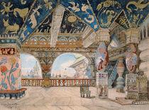 Stage design for Nikolai Rimsky-Korsakov's opera 'The Snow Maiden' von Victor Mikhailovich Vasnetsov