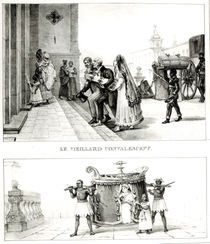 Old Aged Convalescents; A Woman being carried by Caderinha to Mass von Jean Baptiste Debret