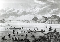 Expedition passing through Point Lata on the Ice by George Back