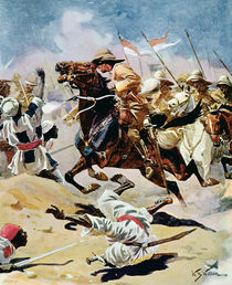 Charge of the 21st Lancers at Omdurman by William Barnes Wollen