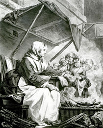 Bargaining Over Chestnuts von Jean Baptiste Greuze