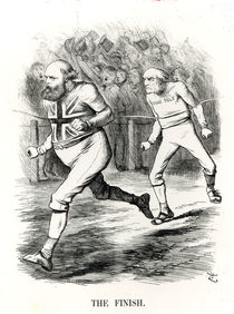 The Finish, from 'Punch or The London Charivari' von English School