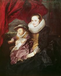 Portrait of a Woman and Child von Anthony van Dyck