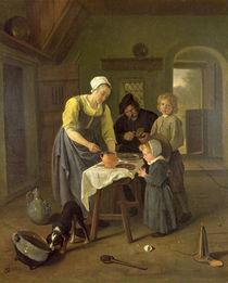 Peasant Family at Meal time von Jan Havicksz Steen