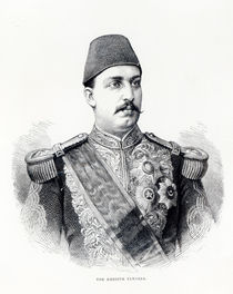 Portrait of The Khedive Tawfig von English School