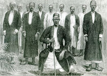 Mtesa,the Emperor of Uganda and other chiefs by English School
