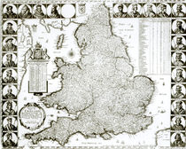 Map of England and Wales, 1644 by Wenceslaus Hollar