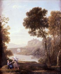 Landscape with Hagar and the Angel von Claude Lorrain