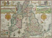 Map of the Kingdom of Great Britain and Ireland by Jodocus Hondius
