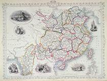 Map of China and Birmah, 1851 von John Rapkin