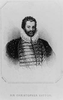 Portrait of Sir Christopher Hatton from 'Lodge's British Portraits' by English School