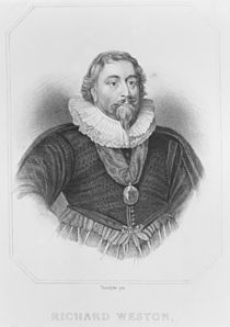 Portrait of Richard Weston from 'Lodge's British Portraits' von English School