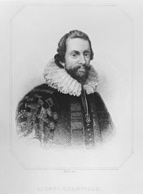 Portrait of Lionel Cranfield from 'Lodge's British Portraits' von English School