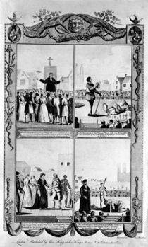 Mr Bourne preaching and the executions of Thomas Wyat by English School
