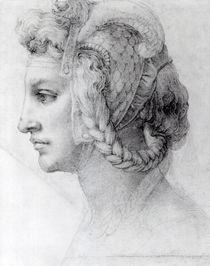 Ideal Head of a Woman, c.1525-28 by Michelangelo Buonarroti