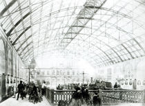 Interior of Charing Cross station by English School