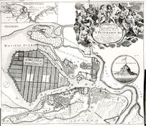 Map of St.Petersburg by English School