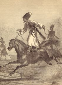 A Cossack Horseman by English School
